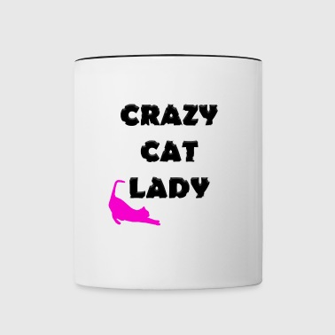Crazy Cat Lady - Tasse zweifarbig