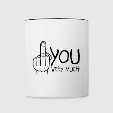 fuck you very much - Tasse zweifarbig