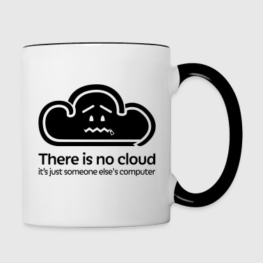 There Is No Cloud - Black - Contrasting Mug