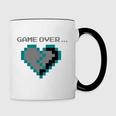 Game Over. Brisé lovelorn Pixel Cœur - Mug contrasté