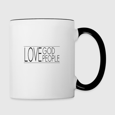 Love God Love People - Contrasting Mug