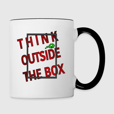 Think outside the box - Tasse zweifarbig