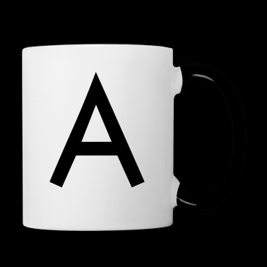 The A initial letter - Contrasting Mug