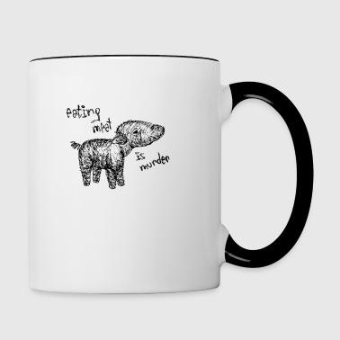 Eating meat is murder - Tasse zweifarbig