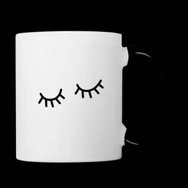 Eyelashes Eyes Sleep - Contrasting Mug