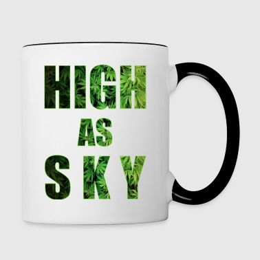 High as Sky Weed Design - Contrasting Mug