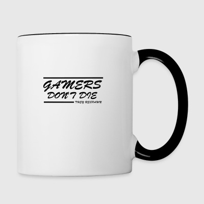 GAMERS DO NOT DIE - Contrasting Mug