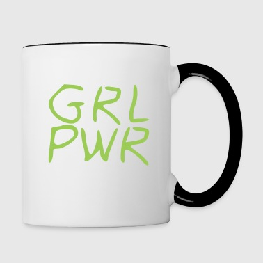 Girl Power - Kubek dwukolorowy