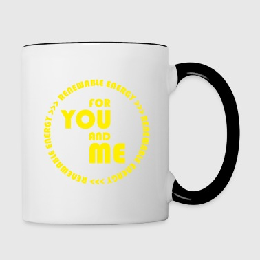 RENEWABLE energy for you and me - yellow - Tasse zweifarbig