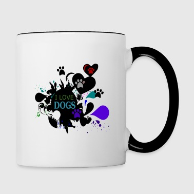 I love Dogs - Love Dog - Mug contrasté