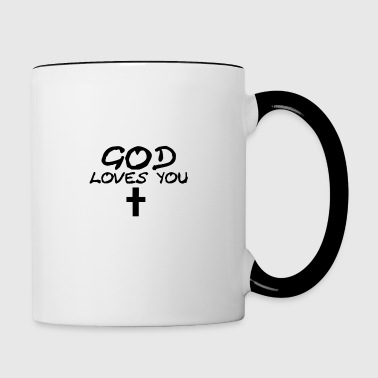 God Loves You - Contrasting Mug