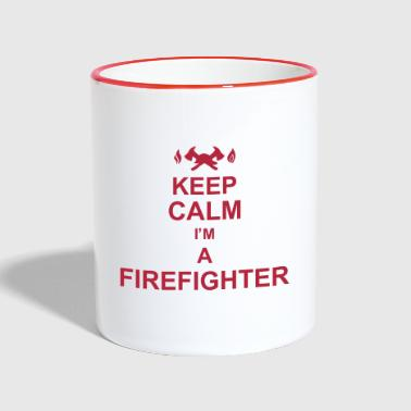 keep_calm_I'm_a_firefighter_g1 - Mok tweekleurig