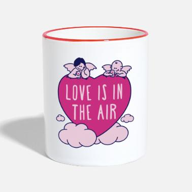 valentine - love is in the air 3c - Tasse zweifarbig