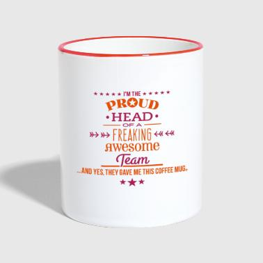 Freaking Awesome Team - Head Edition - Tasse zweifarbig