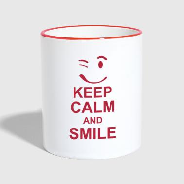 keep_calm_and_smile_g1s - Tazze bicolor