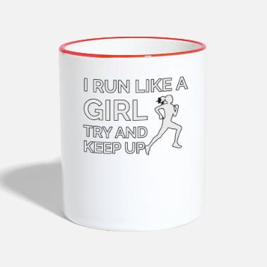 Girl I Run Like A Girl - Two-Tone Mug