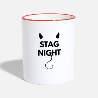 Stag Bachelor party on stag night - Two-Tone Mug