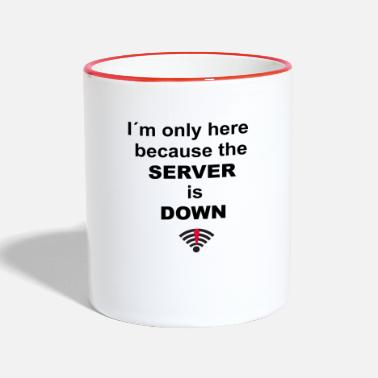 Server Message I'm only here because the server is down - Two-Tone Mug