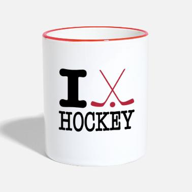 I Love Hockey i love hockey II - Mok tweekleurig