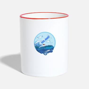 Sail Away Sail away - sailing to freedom - Two-Tone Mug