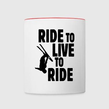 ride to live, live to ride ii - Kubek dwukolorowy