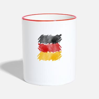 Germany flag, German flag. - Two-Tone Mug