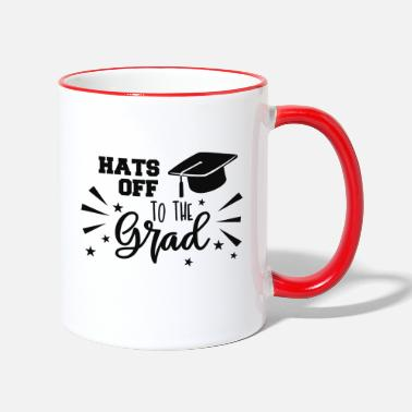 Grad Student Hats Off To The Grad - Two-Tone Mug