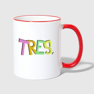 tres birthday for toddlers spanish - Contrasting Mug