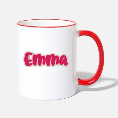 First Name Emma name first name - Two-Tone Mug