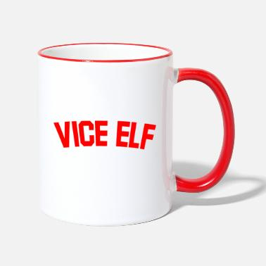 Secret Vice Elf Christmas Gifts for Mum, Dad, Employee... - Two-Tone Mug