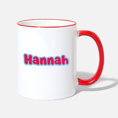 First Name Hannah name first name - Two-Tone Mug