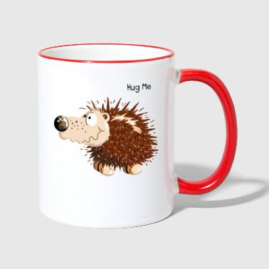 Hedgehog Cute Hug Me Hedgehog Cartoon - Gift - Contrasting Mug