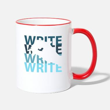 Writing Write - Two-Tone Mug