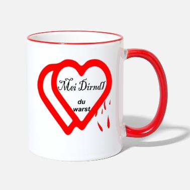 Heartache Mei Dirndl, you were heartache - Two-Tone Mug