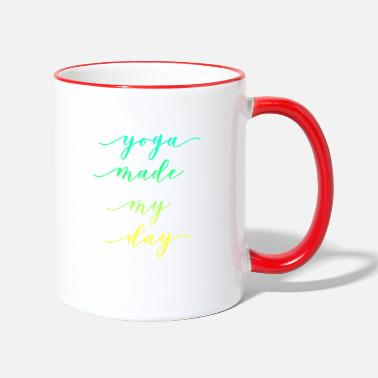 YOGA MADE MY DAY - Clothing and Gift Ideas - Two-Tone Mug