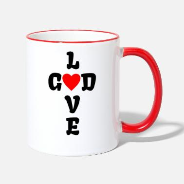 The Son Of God GOD LOVE | Faith God Pastoral priest pastor s - Two-Tone Mug