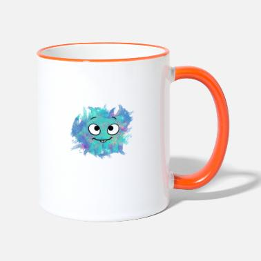 Little blue monster - Tasse zweifarbig