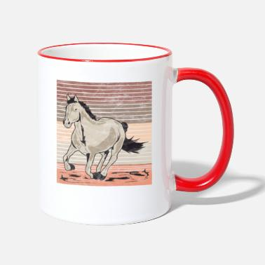 Gallop Horse gallop Used look retro - Two-Tone Mug