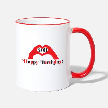 Happy Birthday Happy Birthday Happy Birthday - Two-Tone Mug