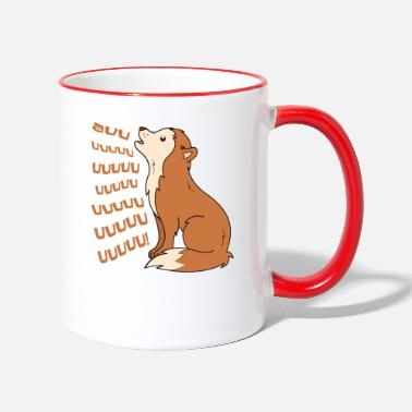 Wolfskind Little Wolf auuu - Two-Tone Mug