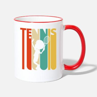 Coach Vintage Retro Tennis Player for Tennis lover Boy - Two-Tone Mug