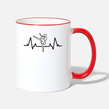 Dancer Ballet Heartbeat Gift For Ballerina Dance Teacher - Two-Tone Mug