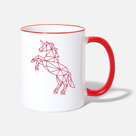 Bestsellers Q4 2018 Mugs & Drinkware - Unicorn | mythical creatures - Two-Tone Mug white/red