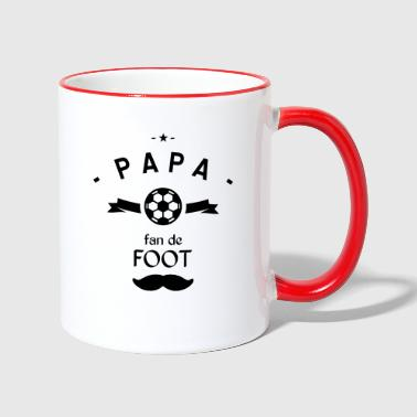 PAPA fan de foot - Mug contrasté