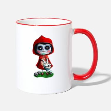 Mexican Little Red Riding Hood La Catrina Bags & - Two-Tone Mug