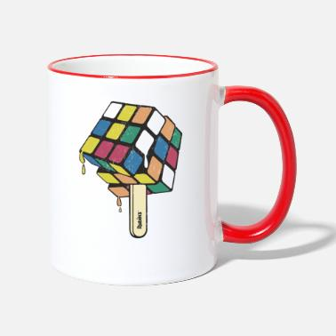 Rubik's Cube Ice Lolly - Mok tweekleurig