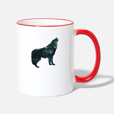 Wolf Forest - wild and free - Two-Tone Mug
