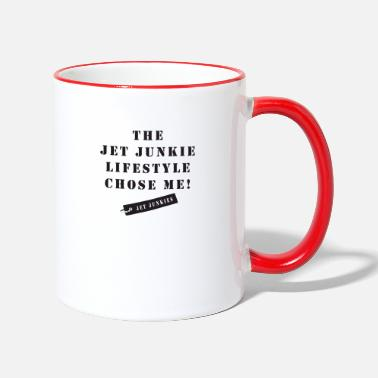 Jet Junkies 'The Jet Junkie Lifestyle Chose Me!' - Two-Tone Mug