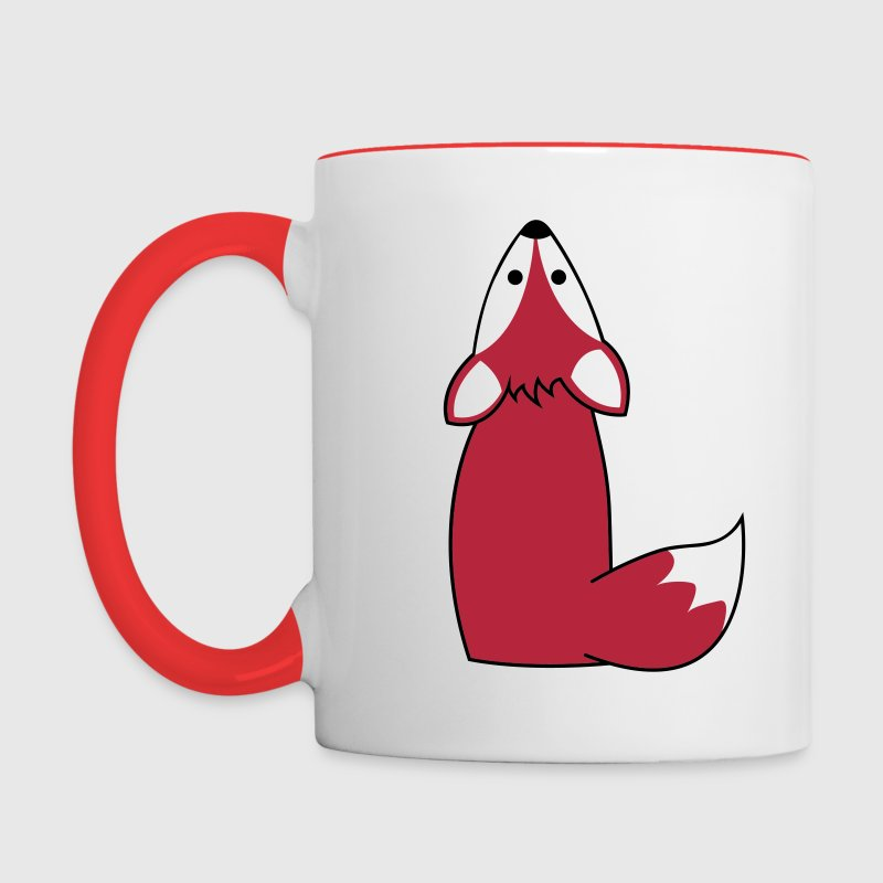 What does the fox say? - Tasse zweifarbig