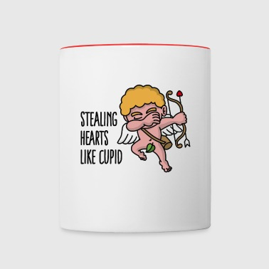 Stealing hearts like cupid - Valentine's day dab - Mug contrasté